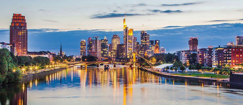 Frankfurt und seine berühmte Hochhaus-Skyline